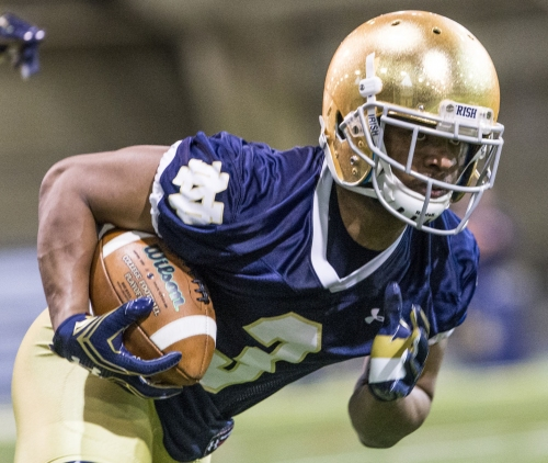 Notre Dame offensive practice notes 3-31