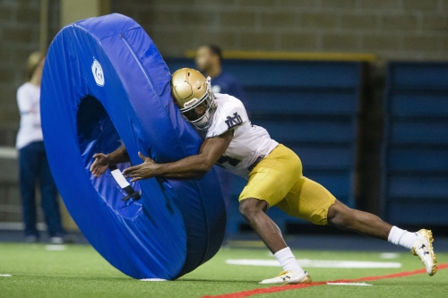 Notre Dame defensive practice notes 3-31