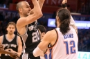 Spurs stun Thunder with late comeback 100-95.