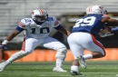 Auburn wants defensive end Paul James III to 'turn it loose' with right knee as spring winds down