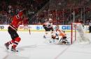 WATCH: John Moore scores OT winner vs. Flyers