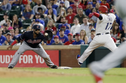 Carlos Santana leads the way as Cleveland Indians beat Texas Rangers, 4-3