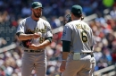Oakland A's place John Axford on DL, bring up Jesse Hahn