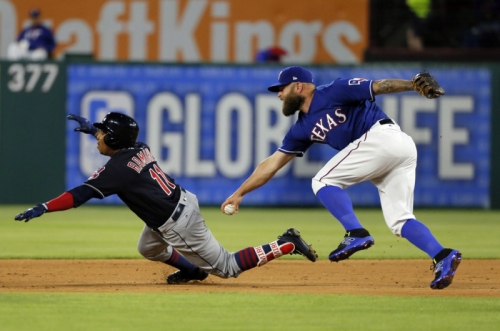 Indians notebook: Former Indians first baseman Mike Napoli has 'tough' reunion in Texas; Michael Brantley plan takes shape