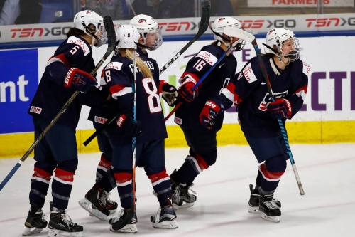 Five Different Eagles Score In Team USA's Rout Of Germany In The IIHF Women's World Championship Semifinals