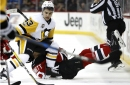 Devils defenseless to stop Pens from 1st-round home-ice clinch
