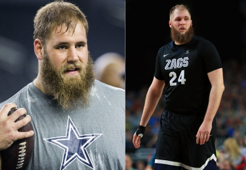 Travis Frederick on Tony Romo calling Cowboys games from the booth and his Gonzaga doppelganger