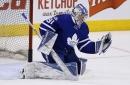 Frederik Andersen Leaves Game After Hit By Tom Sestito