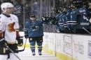 Sharks end regular season with 3-1 win over Calgary Flames
