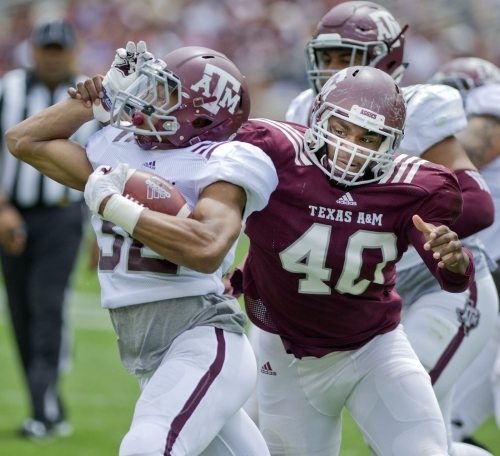 Aggie quarterbacks have up-and-down performances in Maroon & White Game