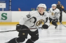 Charlie McAvoy paired with 'big brother' Zdeno Chara at Bruins practice
