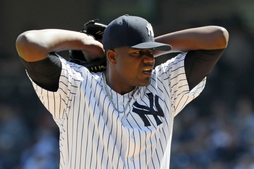 This is the elusive peek at a Michael Pineda who doesn't blink