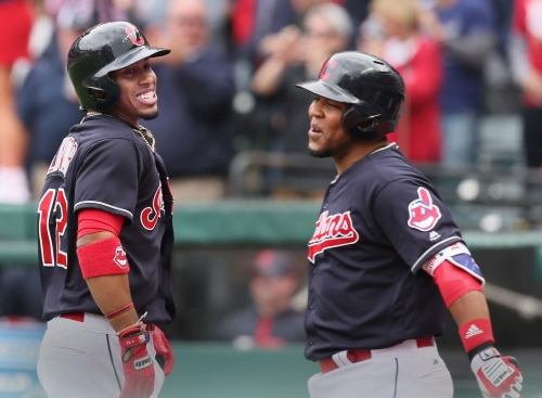 'He's back': Cleveland Indians give Michael Brantley a long-awaited celebratory mobbing on the infield