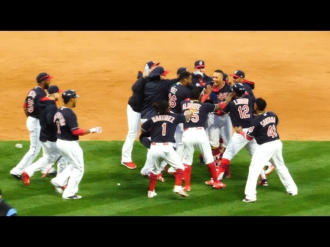 Relive the madness at Progressive Field during walk-off Opening Day victory Tuesday (videos)
