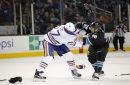 """Oilers' Milan Lucic to be physical with Sharks """"healthy or unhealthy"""""""