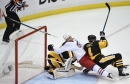 Fleury shines, Bobrovsky falters in Penguins' playoff opener win