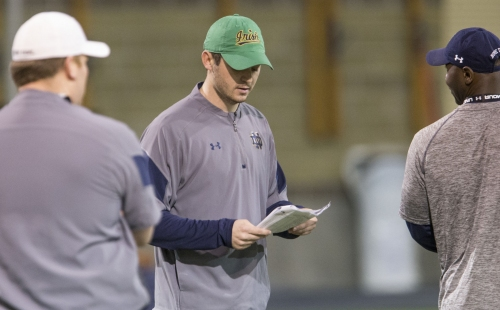 How Tom Rees quickly climbed the coaching ladder back to Notre Dame