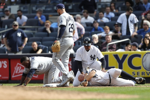 Brett Gardner glad he avoided serious injury after ugly collision
