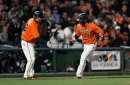 Giants Score Four in Seventh, Cueto Earns Third Win