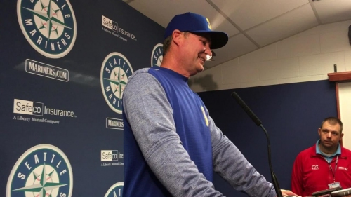 Mariners manager Scott Servais discusses his team's 8-7 walkoff win, his first ejection of the season