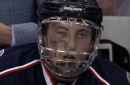 Werenski takes a puck to the face, ruled out for playoffs