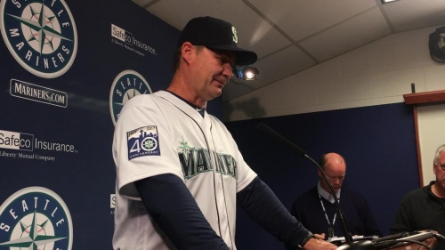 Mariners manager Scott Servais discusses his team's 6-1 win over the Marlins