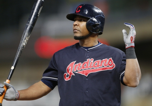 Edwin Encarnacion busts out the #Edwing in Minnesota after 2-run HR