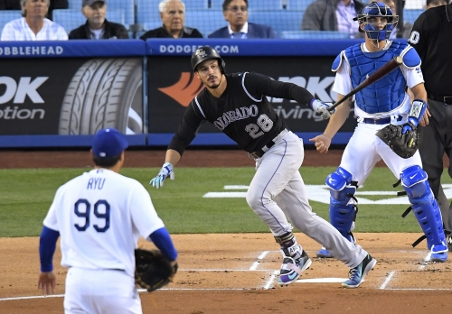 Nolan Arenado blasts two homers in Rockies' 4-3 win over Dodgers