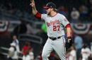 Shawn Kelley ends Nationals' 3-1 win over the Braves twice after blown call by umps...