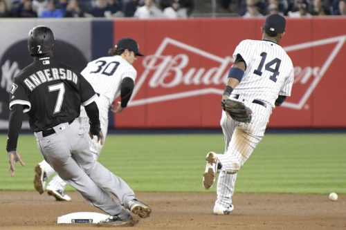 Pete Kozma on fast track off Yankees if he's booting balls