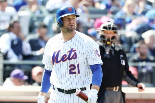 Lucas Duda leaves game with hyper-extended elbow