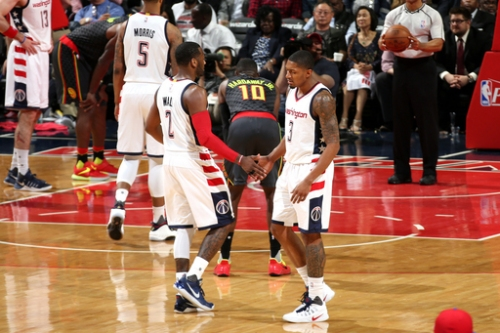 Beal, Wall lead Wiz past Hawks 109-101 for 2-0 series lead The Associated Press