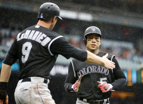 Rockies' Carlos Gonzalez leaves game after getting hit by Dodgers' Clayton Kershaw