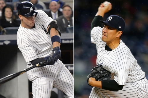 Yankees belt four homers to bolster Tanaka in laugher