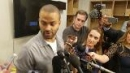 Tony Parker talks after being held scoreless in Game 3