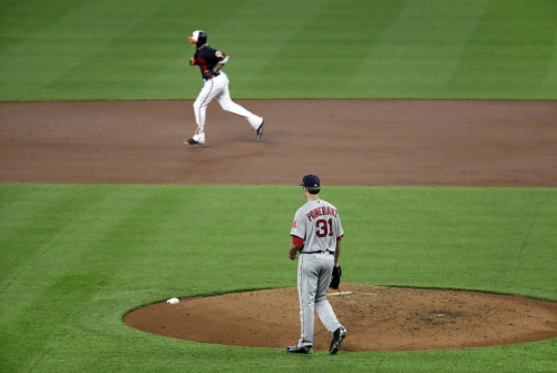 Red Sox offense flat again in shutout loss to Baltimore Orioles; Dustin Pedroia exits with leg injury