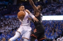 Harden's 44 not enough, drop Game 3 to OKC 115-113