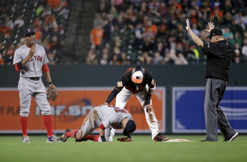 Dustin Pedroia injury: So what happened on that Manny Machado slide in the eighth inning of Red Sox vs. Orioles