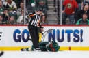 Wild's Staal collides into boards, leaves game in second period