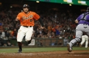 Giants notes: Hunter Pence has bruised knee, Brandon Crawford to take family leave