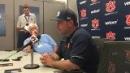 Auburn head coach Butch Thompson after 7-3 loss to No. 14 Arkansas