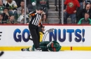Eric Staal released from hospital after crashing head-first into boards