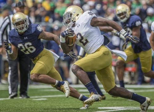 Candid Notre Dame RB Dexter Williams driven by his past