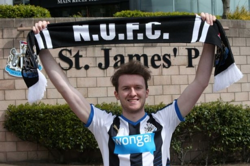 This Newcastle United fan has travelled from Canada in the hope of seeing his team promoted