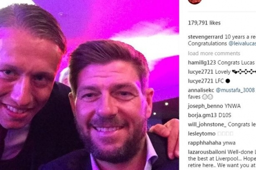 Steven Gerrard leads Lucas tributes at anniversary dinner