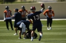 Broncos QBs Trevor Siemian, Paxton Lynch return to field for early work on new offense