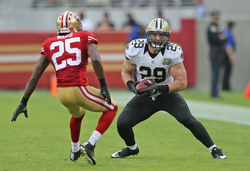 Saints' John Kuhn excited to block for Mark Ingram, Adrian Peterson