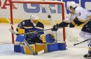 Blues rally late but lose 4-3 on Predators' fluky goal