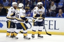 Predators beat Blues 4-3 in Game 1 of second-round series The Associated Press