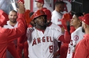 Cameron Maybin was the grand marshal of the Angels hit parade in 8-5 win over A's
